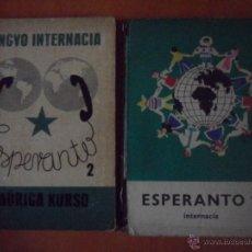 Libros de segunda mano: ESPERANTO. TOMO 1 Y 2. BUDAPEST 1968 Y 1972. TAPA DURA. 18 X 24 CMS. 900 GRAMOS.. Lote 65456345