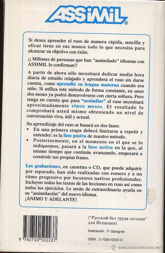 Libros de segunda mano: ASSIMIL EL NUEVO RUSO SIN ESFUERO año 1999 55 pag ---- (ref M1 E1) - Foto 2 - 50161037
