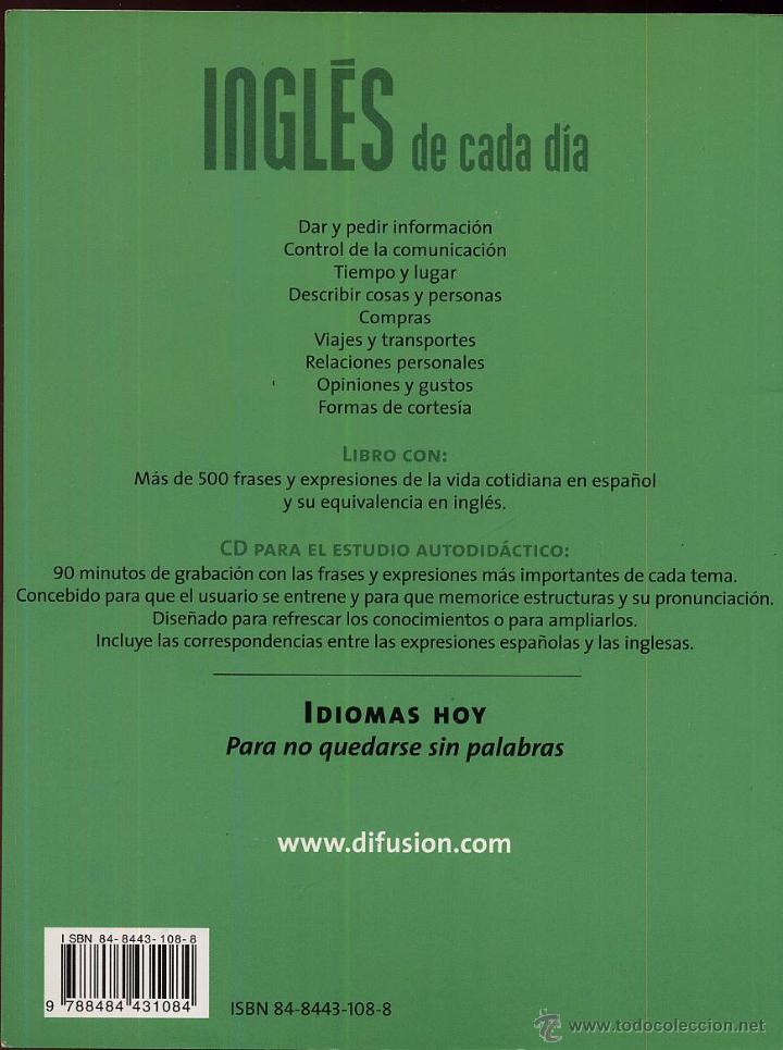 Libros de segunda mano: INGLES DE CADA DIA autoaprendiaje ----(ref M1 E1) Y --RefEsCDLaDeArEs4 - Foto 2 - 50174796