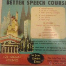 Libros de segunda mano: CURSO DE INGLES- BETTER SPEECH COURSE-THE LIVING LANGUAGE-1957. Lote 50430717