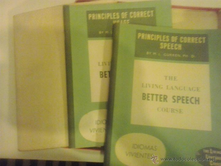 Libros de segunda mano: CURSO DE INGLES- BETTER SPEECH COURSE-THE LIVING LANGUAGE-1957 - Foto 2 - 50430717