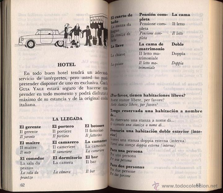 Libros de segunda mano: GUIA DE CONVERSACION ESPAÑOL ITALIANO - YALE - Foto 3 - 53262568