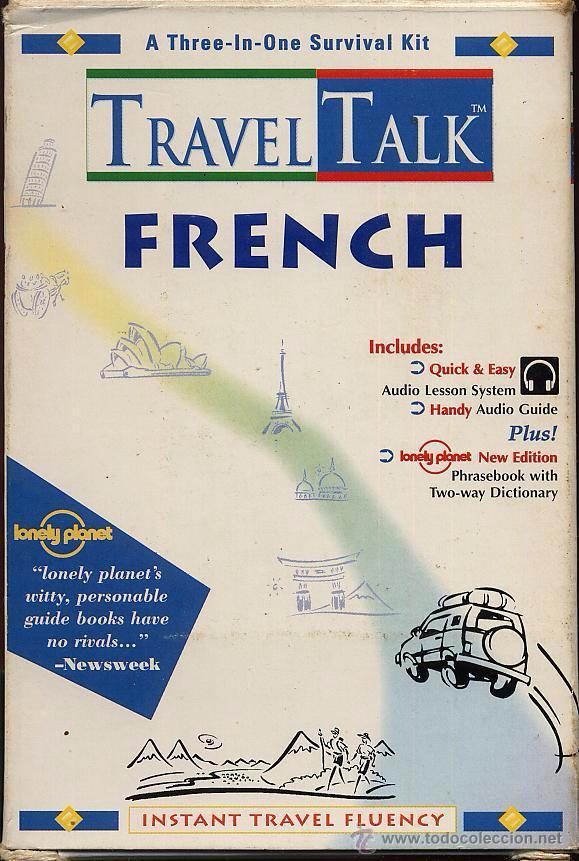 TRAVEL TALK FRENCH - LONELY PLANET - CON LIBRO Y CASETE USADO POCAS VECES (Libros de Segunda Mano - Cursos de Idiomas)