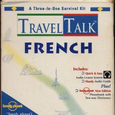 Libros de segunda mano: TRAVEL TALK FRENCH - LONELY PLANET - CON LIBRO Y CASETE USADO POCAS VECES (REF-SAMIIZES1). Lote 53271003