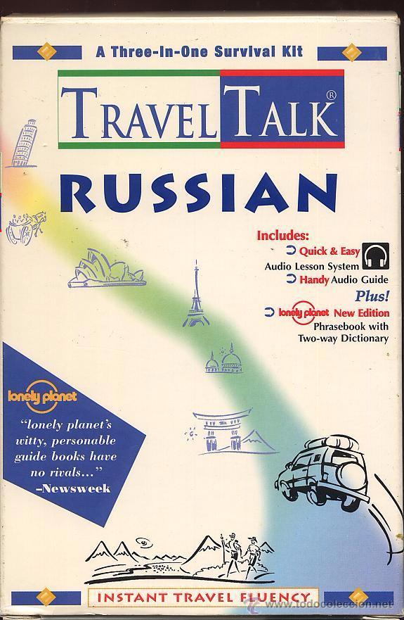 TRAVEL TALK RUSSIAN - LONELY PLANET - CON LIBRO Y CASETE USADO POCAS VECES (REF-SAMIIZES1) (Libros de Segunda Mano - Cursos de Idiomas)