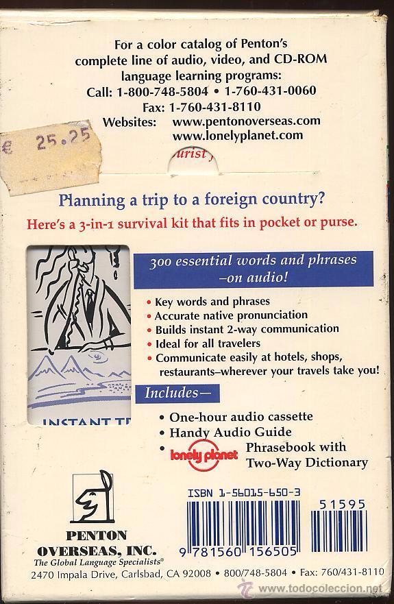 Libros de segunda mano: TRAVEL TALK RUSSIAN - LONELY PLANET - CON LIBRO Y CASETE USADO POCAS VECES (Ref-SaMiIzEs1) - Foto 2 - 53271024