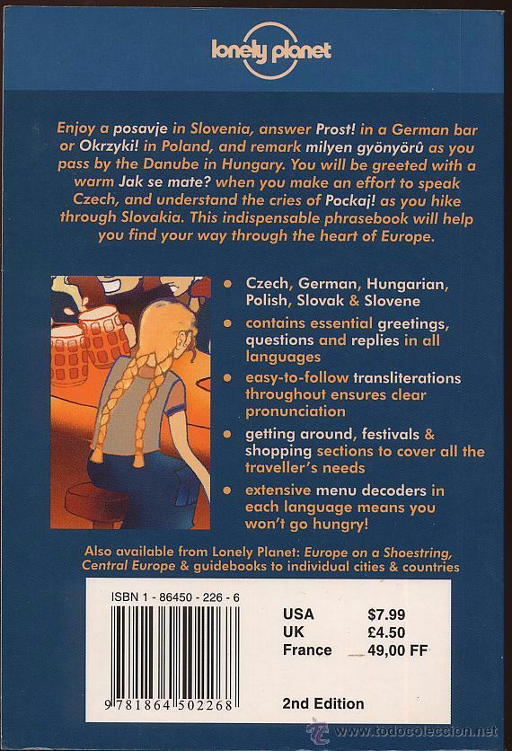 Libros de segunda mano: CENTRAL EUROPE PHRASEBOOK - LONEY PLANET - AÑO 2001 - 384 PAG - Foto 2 - 53382128