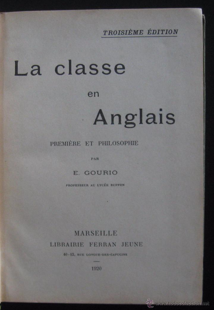 Libros de segunda mano: (Literatura Inglesa-Inglés) 1920 - Antiguo Libro de Texto - Ilustrado - Grabados - Curso de Inglés - Foto 4 - 53872048