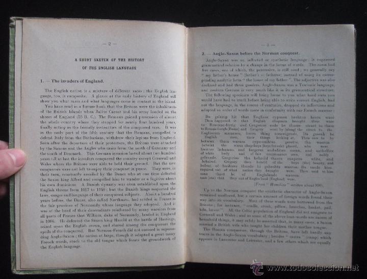 Libros de segunda mano: (Literatura Inglesa-Inglés) 1920 - Antiguo Libro de Texto - Ilustrado - Grabados - Curso de Inglés - Foto 5 - 53872048