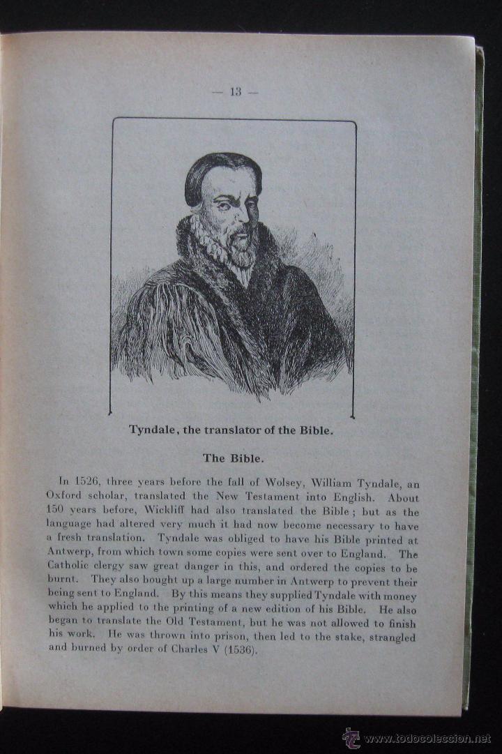 Libros de segunda mano: (Literatura Inglesa-Inglés) 1920 - Antiguo Libro de Texto - Ilustrado - Grabados - Curso de Inglés - Foto 6 - 53872048