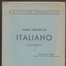 Libros de segunda mano: NUEVO METODO DE ITALIANO.- CURSO ELEMENTAL- POR GIOVANNI B. RICCI. Lote 54632011