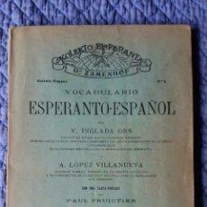 Libros de segunda mano: LIBRO DE ESPERANTO-ESPAÑOL. Lote 55346436