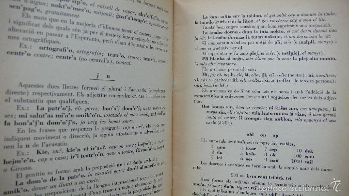 Libros de segunda mano: ELEMENTS DE LA LLENGUA ESPERANTO. ADAPTACIÓ CATALANA PER S. ALBERIC JOFRÈ. 1937. - Foto 3 - 55859414