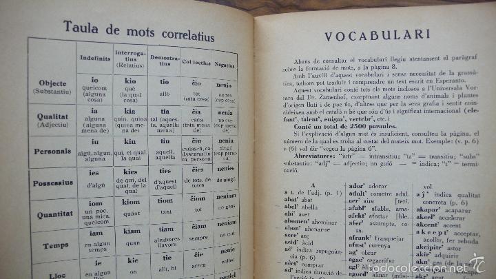 Libros de segunda mano: ELEMENTS DE LA LLENGUA ESPERANTO. ADAPTACIÓ CATALANA PER S. ALBERIC JOFRÈ. 1937. - Foto 4 - 55859414