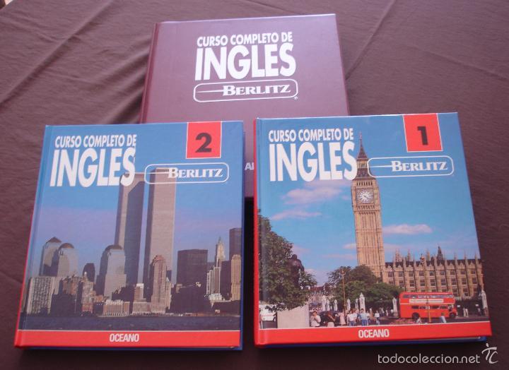 CURSO COMPLETO DE INGLÉS BERLIZ - 2 VOLS. + ESTUCHE CON 14 CASSETTES - OCEANO - MADRID, 1992 (Libros de Segunda Mano - Cursos de Idiomas)