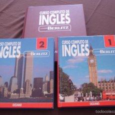 Libros de segunda mano: CURSO COMPLETO DE INGLÉS BERLIZ - 2 VOLS. + ESTUCHE CON 14 CASSETTES - OCEANO - MADRID, 1992. Lote 56162492