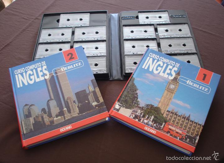 Libros de segunda mano: CURSO COMPLETO DE INGLÉS BERLIZ - 2 VOLS. + ESTUCHE CON 14 CASSETTES - OCEANO - MADRID, 1992 - Foto 2 - 56162492