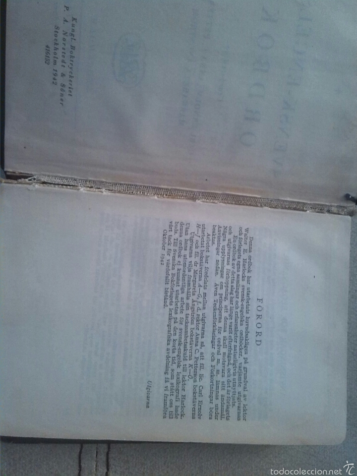 Libros de segunda mano: Diccionario Sueco/ingles año 1942 - Foto 3 - 56595674
