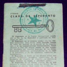 Libros de segunda mano: LIBRITO DE ELEMENTOS DE LA LENGUA ESPERANTO. CURSO CLAVE DE ESPERANTO. 1959. ALFABETO- VOCABULARIO... Lote 57700439