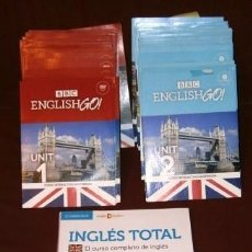 Libros de segunda mano: LOTE CURSO DE INGLÉS MULTIMEDIA: 21 CD-ROM + 20 DVD (ENGLISH GO BBC) + LIBRO INGLÉS TOTAL CAMBRIDGE. Lote 58343954