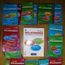 Libros de segunda mano: LOTE CURSO DE ALEMÁN MÉTODO VAUGHAN: 40 DISCOS MULTIPLATAFORMA+LIBRO ALEMÁN WILLKOMMEN EL MUNDO 2012. Lote 58366919