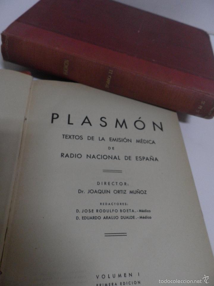 DR. J. ORTIZ MUÑOZ 'PLASMÓN. TEXTOS MÉDICO-LITERARIOS DE LAS EMISIONES RADIOFÓNICAS. 2 VOL, 1º EDIC (Libros de Segunda Mano - Cursos de Idiomas)