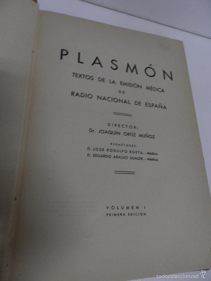 Libros de segunda mano: DR. J. ORTIZ MUÑOZ PLASMÓN. TEXTOS MÉDICO-LITERARIOS DE LAS EMISIONES RADIOFÓNICAS. 2 VOL, 1º EDIC - Foto 5 - 59874072