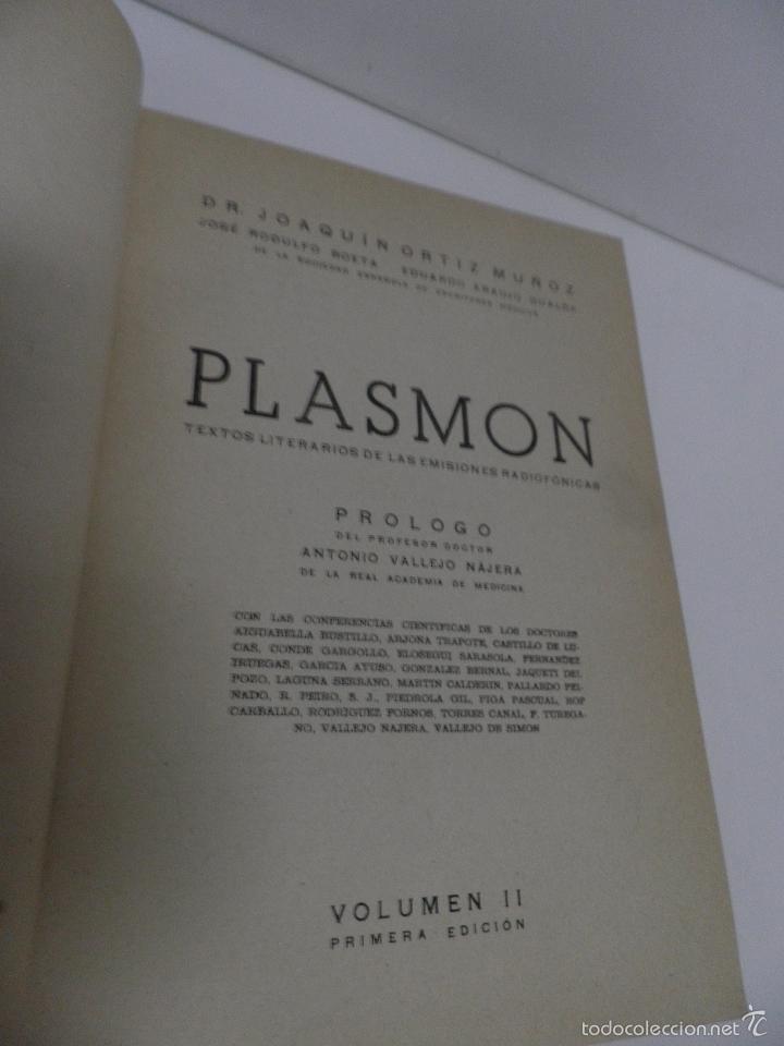 Libros de segunda mano: DR. J. ORTIZ MUÑOZ PLASMÓN. TEXTOS MÉDICO-LITERARIOS DE LAS EMISIONES RADIOFÓNICAS. 2 VOL, 1º EDIC - Foto 13 - 59874072