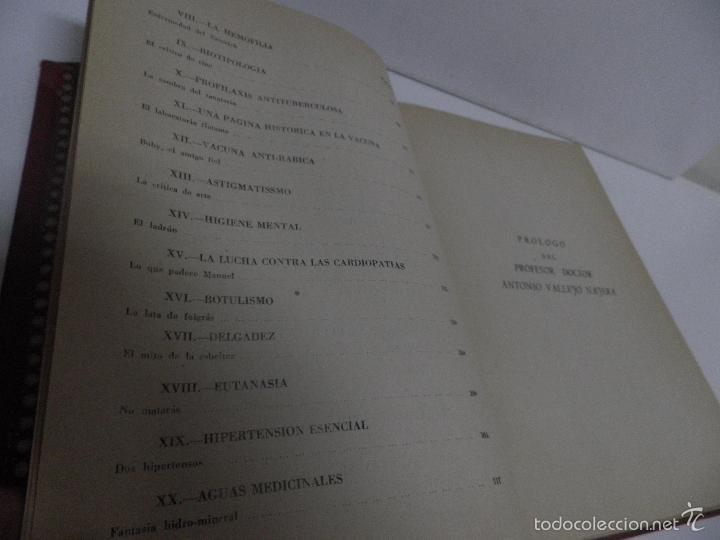 Libros de segunda mano: DR. J. ORTIZ MUÑOZ PLASMÓN. TEXTOS MÉDICO-LITERARIOS DE LAS EMISIONES RADIOFÓNICAS. 2 VOL, 1º EDIC - Foto 15 - 59874072