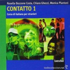 Libros de segunda mano: 2 AUDIO CDS - CONTATTO 1: CORSO DI ITALIANO PER STRANIERI - ISBN: 9788820177973. Lote 61217927