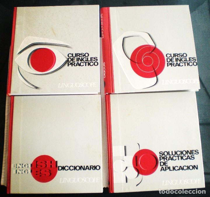 CURSO INGLÉS PRÁCTICO LINGUOSCOPE, CON 12 DISCOS, EMBALAJE ORIGINAL. 1967 (Libros de Segunda Mano - Cursos de Idiomas)