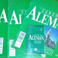 Libros de segunda mano: CURSO DE ALEMÁN PLANETA AGOSTINI (4 FASCÍCULOS+CASETE+DICCIONARIO). Lote 64598987