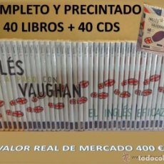 Libros de segunda mano: INGLÉS PASO A PASO CON VAUGHAN. CURSO COMPLETO. 40 LIBROS + 40 CDS / PRECINTADO A ESTRENAR. Lote 87515840