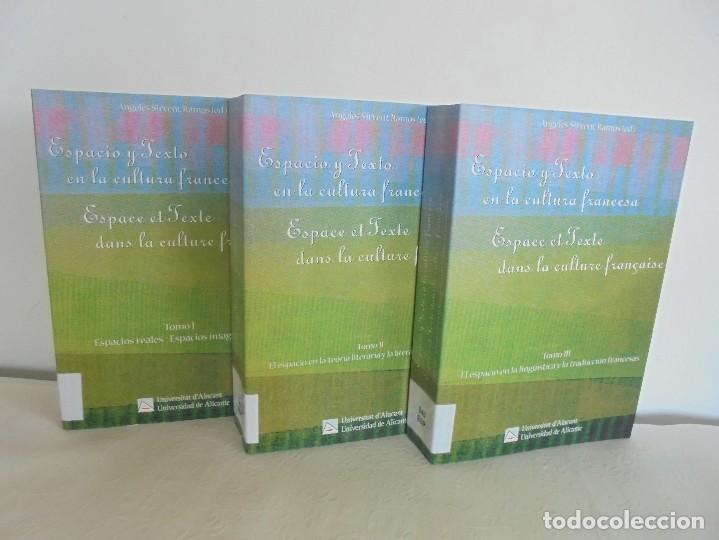 ANGELES SIRVENT RAMOS. ESPACIO Y TEXTO EN LA CULTURA FRANCESA. VER FOTOGRAFIAS ADJUNTAS. (Libros de Segunda Mano - Cursos de Idiomas)