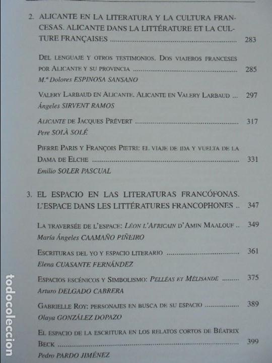 Libros de segunda mano: ANGELES SIRVENT RAMOS. ESPACIO Y TEXTO EN LA CULTURA FRANCESA. VER FOTOGRAFIAS ADJUNTAS. - Foto 11 - 69952145