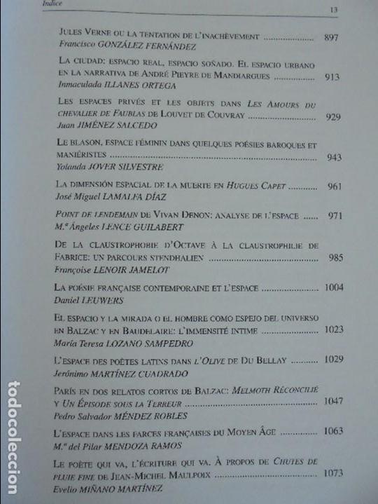 Libros de segunda mano: ANGELES SIRVENT RAMOS. ESPACIO Y TEXTO EN LA CULTURA FRANCESA. VER FOTOGRAFIAS ADJUNTAS. - Foto 15 - 69952145