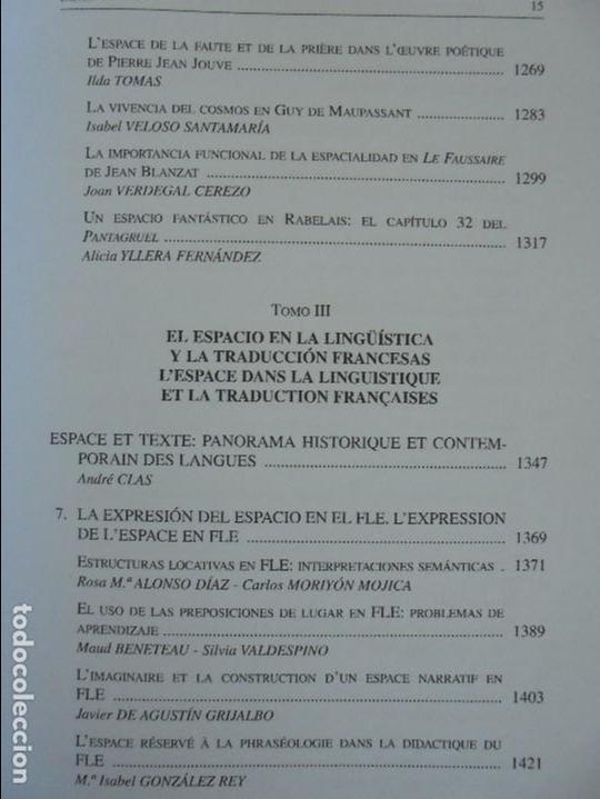 Libros de segunda mano: ANGELES SIRVENT RAMOS. ESPACIO Y TEXTO EN LA CULTURA FRANCESA. VER FOTOGRAFIAS ADJUNTAS. - Foto 17 - 69952145