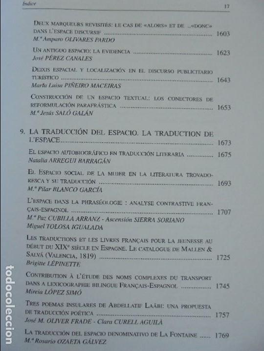 Libros de segunda mano: ANGELES SIRVENT RAMOS. ESPACIO Y TEXTO EN LA CULTURA FRANCESA. VER FOTOGRAFIAS ADJUNTAS. - Foto 19 - 69952145