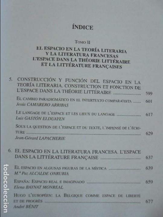 Libros de segunda mano: ANGELES SIRVENT RAMOS. ESPACIO Y TEXTO EN LA CULTURA FRANCESA. VER FOTOGRAFIAS ADJUNTAS. - Foto 27 - 69952145