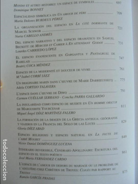Libros de segunda mano: ANGELES SIRVENT RAMOS. ESPACIO Y TEXTO EN LA CULTURA FRANCESA. VER FOTOGRAFIAS ADJUNTAS. - Foto 28 - 69952145