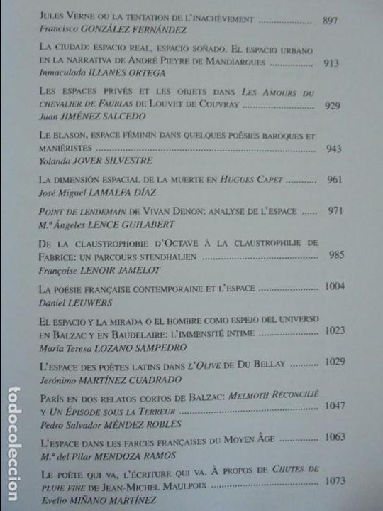 Libros de segunda mano: ANGELES SIRVENT RAMOS. ESPACIO Y TEXTO EN LA CULTURA FRANCESA. VER FOTOGRAFIAS ADJUNTAS. - Foto 29 - 69952145