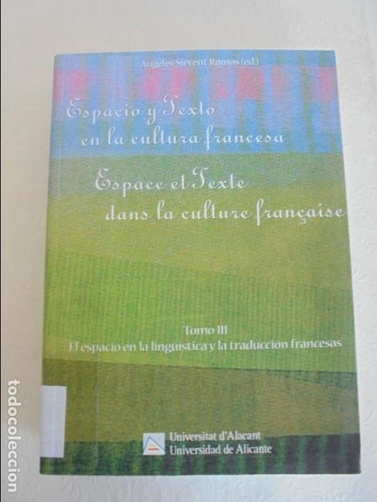 Libros de segunda mano: ANGELES SIRVENT RAMOS. ESPACIO Y TEXTO EN LA CULTURA FRANCESA. VER FOTOGRAFIAS ADJUNTAS. - Foto 37 - 69952145