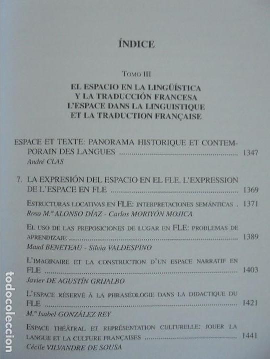 Libros de segunda mano: ANGELES SIRVENT RAMOS. ESPACIO Y TEXTO EN LA CULTURA FRANCESA. VER FOTOGRAFIAS ADJUNTAS. - Foto 38 - 69952145