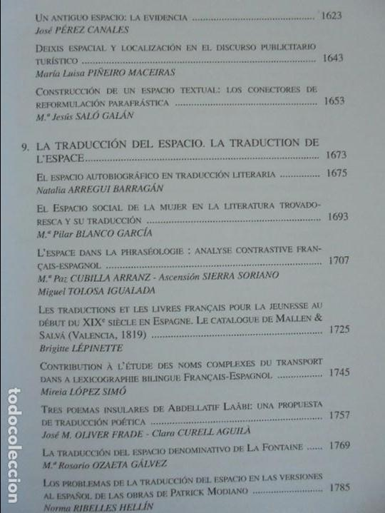 Libros de segunda mano: ANGELES SIRVENT RAMOS. ESPACIO Y TEXTO EN LA CULTURA FRANCESA. VER FOTOGRAFIAS ADJUNTAS. - Foto 40 - 69952145