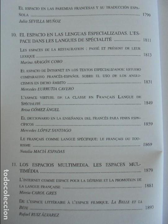 Libros de segunda mano: ANGELES SIRVENT RAMOS. ESPACIO Y TEXTO EN LA CULTURA FRANCESA. VER FOTOGRAFIAS ADJUNTAS. - Foto 41 - 69952145