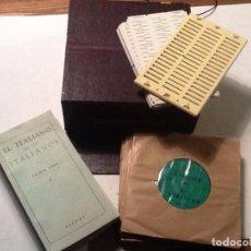 Libros de segunda mano: EUROVOX. EL ITALIANO DE LOS ITALIANOS 12 DISCOS + 6 LIBROS + 47 FICHAS . Lote 70006041