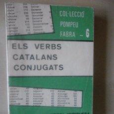 Libros de segunda mano: ELS VERBS CATALANS CONJUGATS. JUAN BAPTISTA XURIGUERA. Lote 71090093