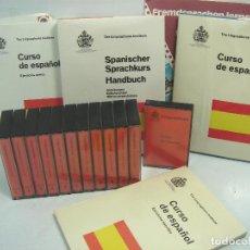 Libros de segunda mano: CURSO DE IDIOMAS - ESPAÑOL EN ALEMAN LINGUAPHONE 1975 - 12 CINTAS CASETE + 4 LIBROS EJERCICIOS. Lote 76967245