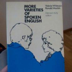 Libros de segunda mano: MORE VARIETIES OF #SPOKEN #ENGLISH. Lote 77422771