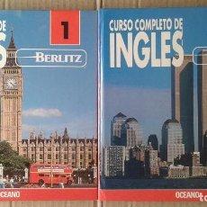 Libros de segunda mano: CURSO COMPLETO DE INGLÉS EDITADO POR BERLIZ / OCÉANO. DOS MANUALES, LECCIONES EN CASSETTE Y MALETÍN. Lote 80523525